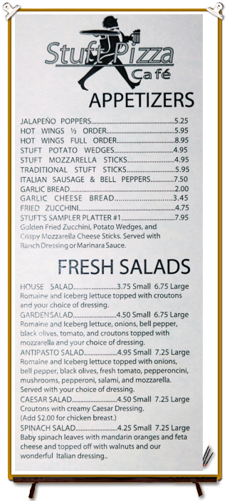 APPETIZERS+FRESH SALADS